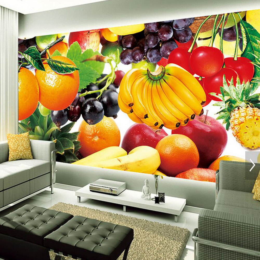 3d fruit wallpaper photo wall mural for living room tv - Tapices para sofas ...