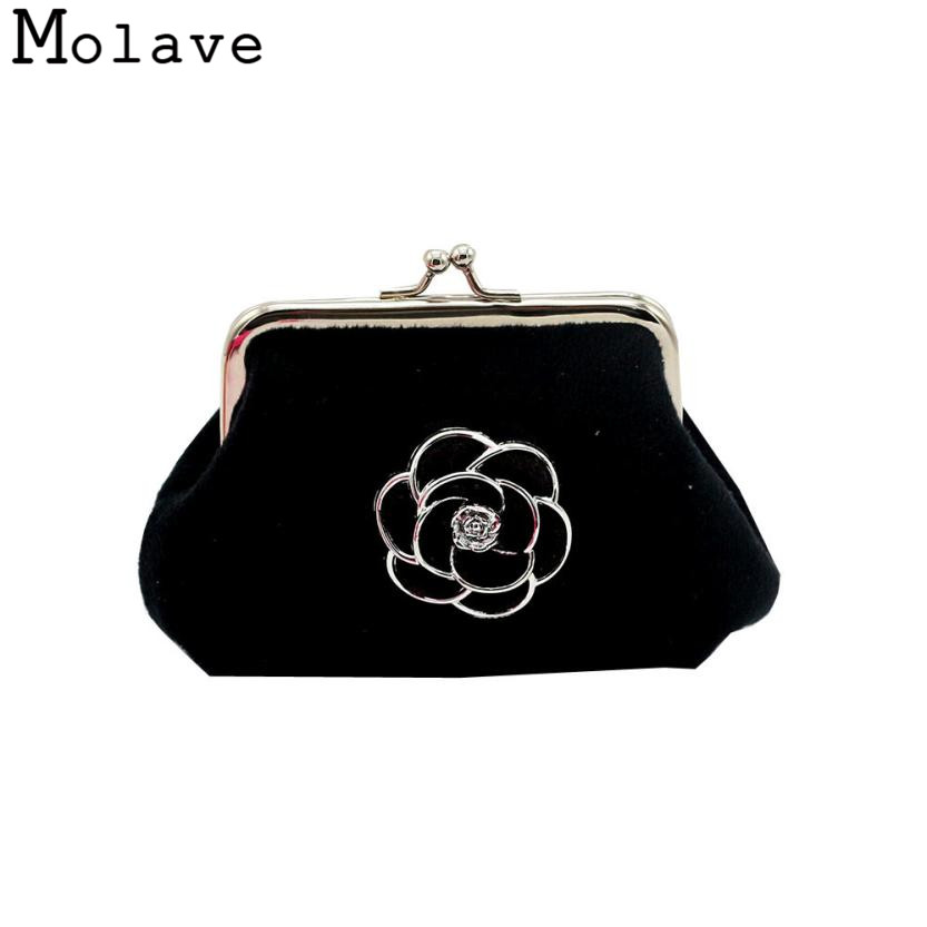Naivety Flannel Coins Purses Floral Coin Purse Small Hasp Flower Wallet Mini Bag 30S71214 drop shipping