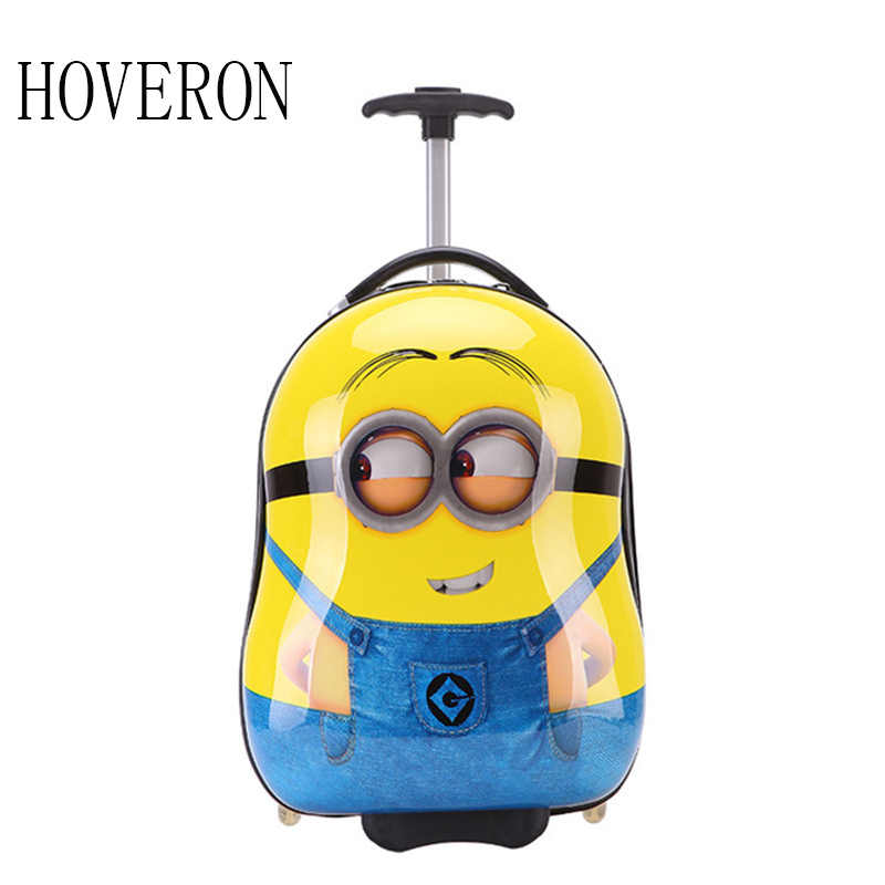 Pull rod School Bag Anime Girl Travel Luggage Child Rolling School Bag Cartoon Students Trolley Case Children Boarding Box Gift