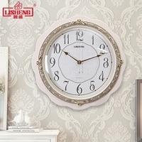 Tuda White Wall Clock European Style Watch Creative Fashion Hanging Clock Mute Quartz Clock For Living Room Free Shipping