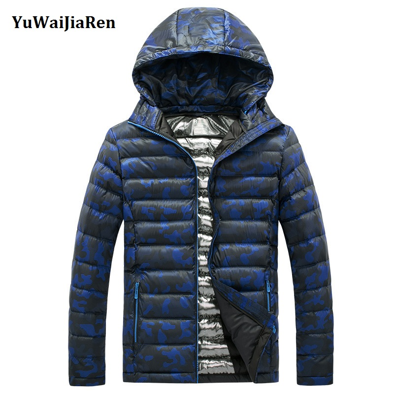 YuWaiJiaRen Winter Jacket Men Light Cotton Padded Down Jacket Coat Clothing Warm Male Camouflage Military Parka Coat Size L 5XL new men winter jacket fashion brand clothing cotton padded down parka male thick warm comfortable outerwear coat hood detachable