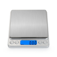 Portable Food Tea Scale Mini Pocket Stainless Steel Precision Jewelry Electronic Balance Weight Gold Grams Digital Kitchen Scale