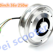 10 дюймов 10 дюймов 24 в 36 в 48 в 250 Вт BLDC одноосный бесщеточный безредукторный скутер dc Ступица колеса мотор phub-143