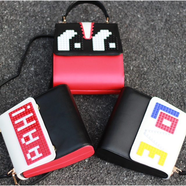 High quality fashion brand design Lego monster eye personalized letters casual totes ladies handbag shoulder bag messenger bag