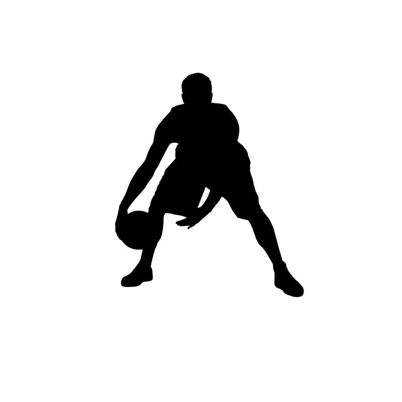 10CM*11.9CM Silhouette Basketball Players Vinyl Sports Car Decal Sticker S9-0167