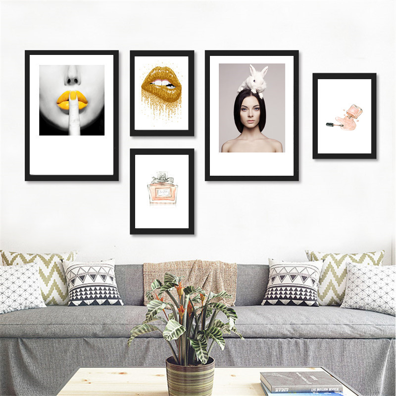 Picture Home Decor: Modern Makeup Canvas Art Print Painting Poster, Fashion