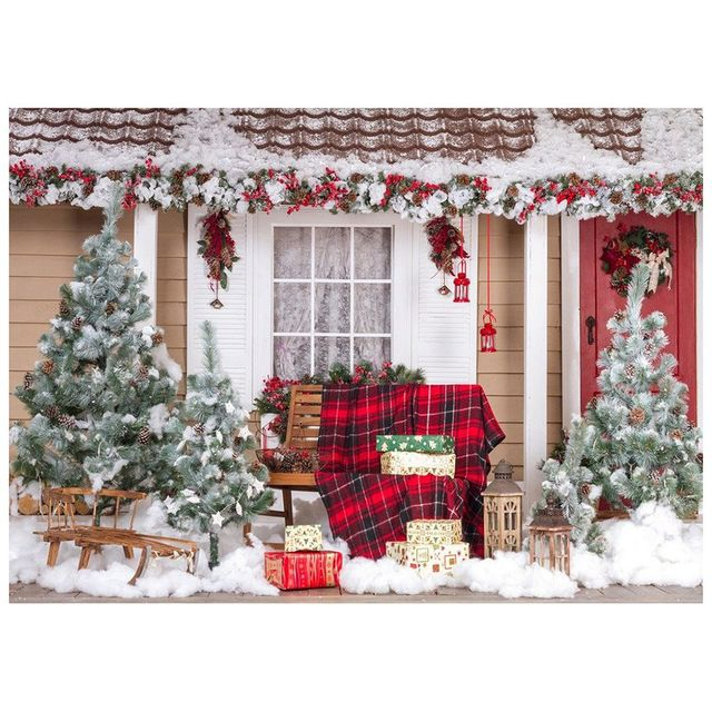 7X5FT Christmas Theme Pictorial cloth photography Backdrop - christmas theme background