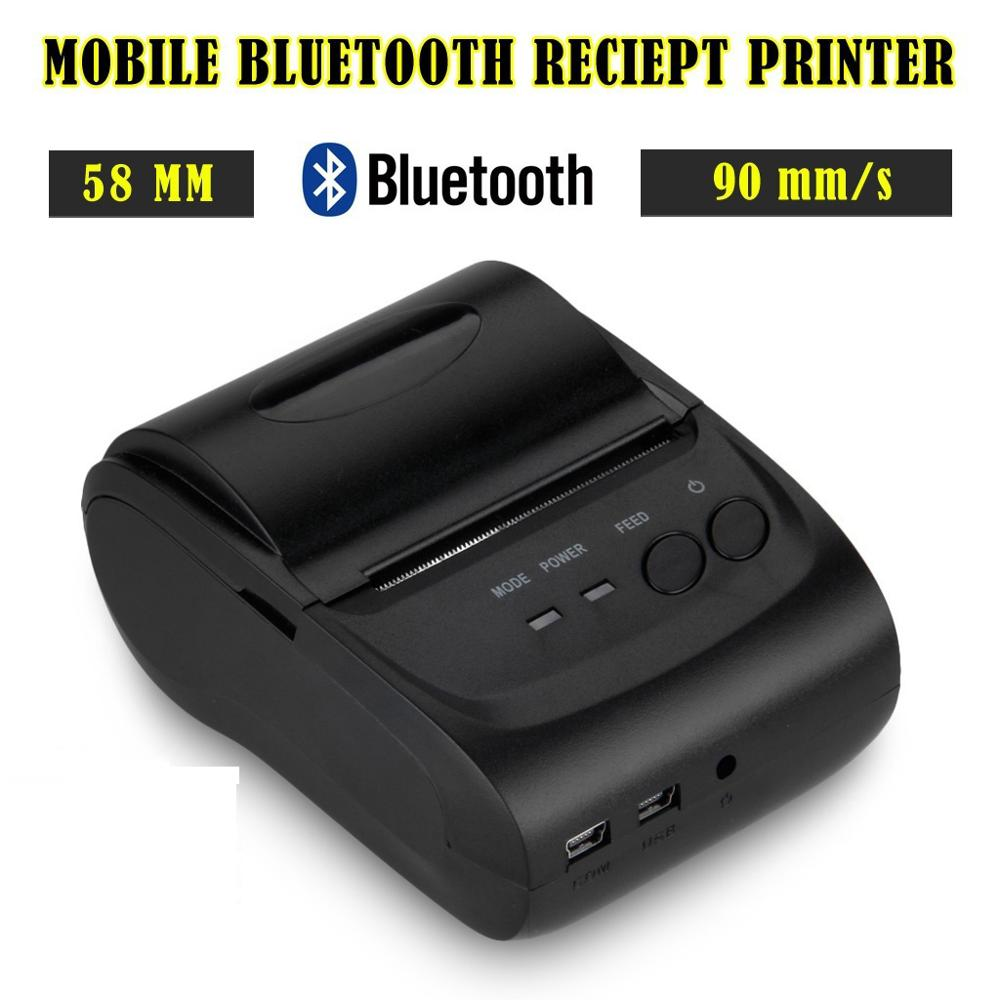 Dhl 10 Sets Draagbare Bluetooth Draadloze 2 Inches 58mm Mini Android Bluetooth Poort Thermische Bonprinter Thermische Printer
