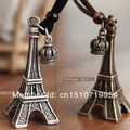 Moda frete grátis liga torre Eiffel Crown colar longa corda A1062 9rRT6