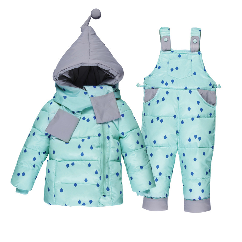 2017 Russia Kids Winter Thick Duck Down Children Baby Snow Suits Down Jacket Overalls For Kids Girls Outerwear -20 degree Warm kids ski suits snow suits for girls children boys snowsuit down cotton jacket winter overalls child winter thicken clothing