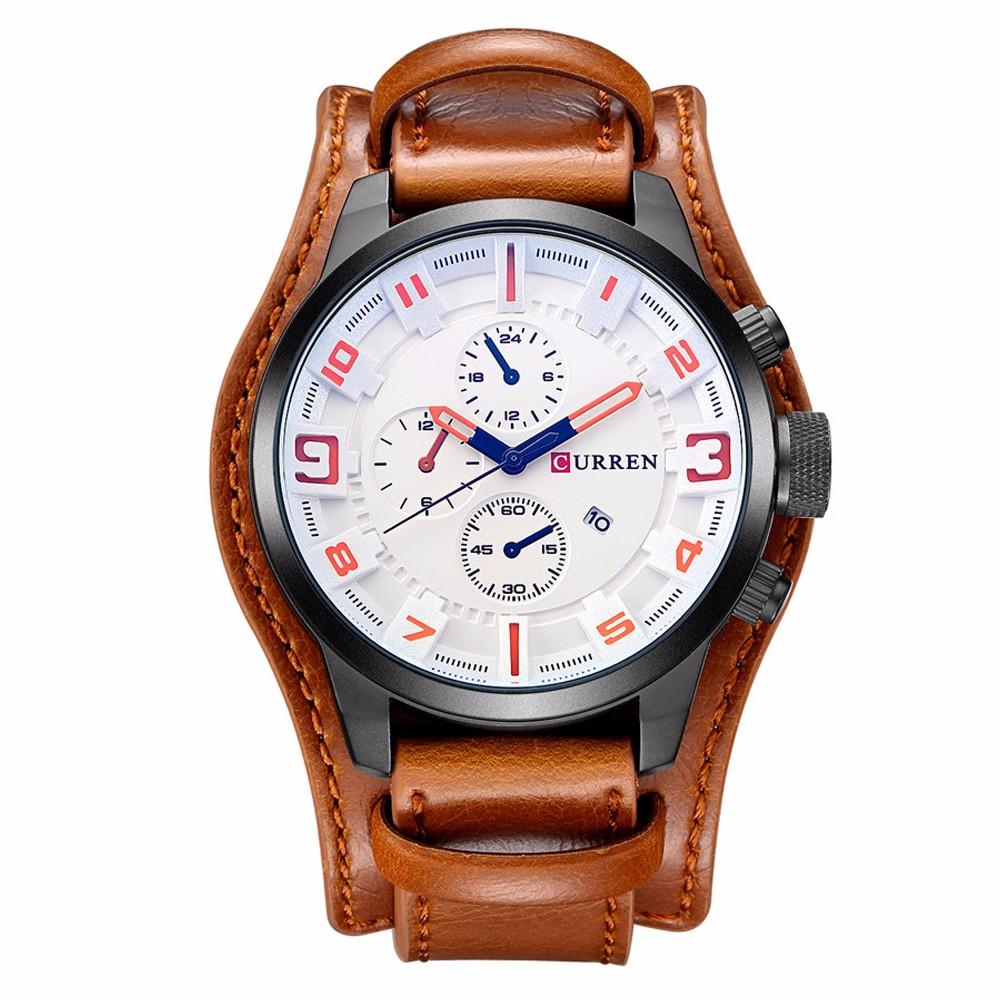 CURREN Military Steampunk Sports Men's Quartz Watch