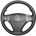 Black Artificial Leather Car Steering Wheel Cover for Ssangyong Korando 2011-2014