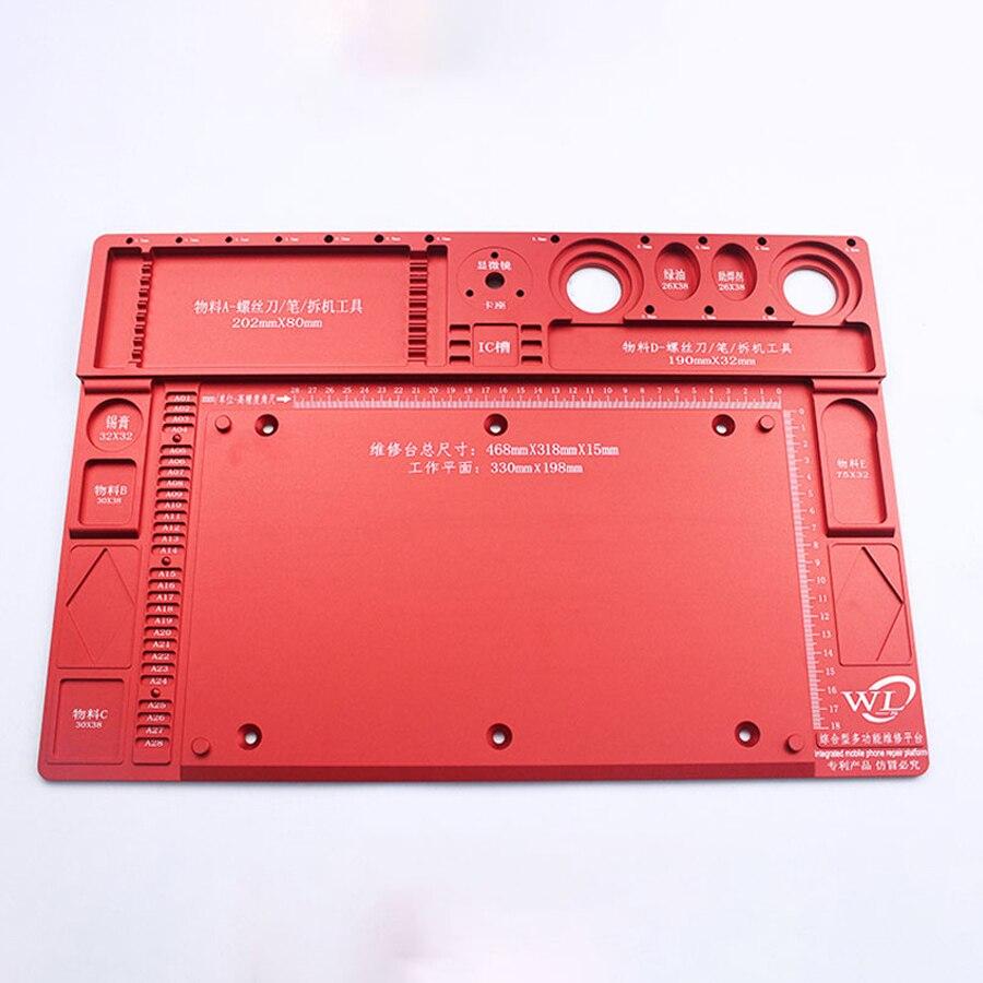 35x25 cm Calor Mat Isolamento Pad Silicone Seção Mesa de Trabalho Plataforma de Manutenção Com Magnético Para Solda BGA Vendidos reparação - 4