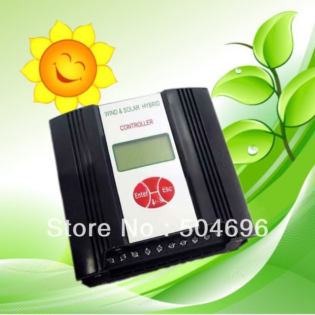 600W 24V AC Output Wind/Solar Hybrid Charge Controller LCD Display