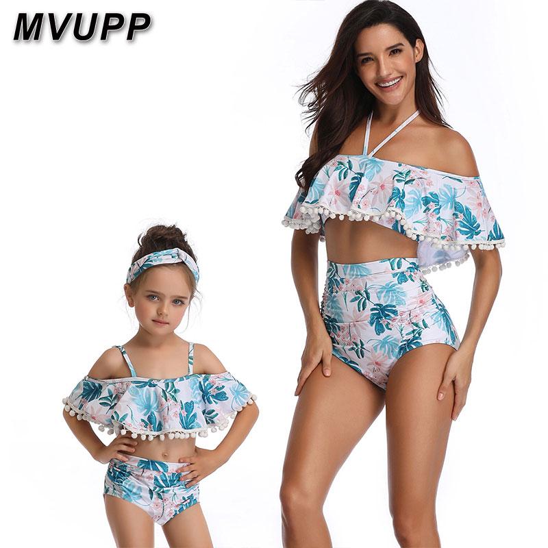 4309d85834 Mère et fille maillot de bain maman et moi maillots de bain bikini famille  correspondant vêtements tenues look maman maman bébé robes vêtements