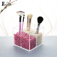 Exquisiteness Acrylic Cosmetic Organizer Makeup Brush Pen Small Jewelry Storage Display Decorative Office Or Dressing Table
