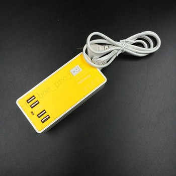 B type Portable High Speed Fast Charger 4 Ports USB Fast Charger Power Adapter travel wall charger US Plug 10pcs/lot