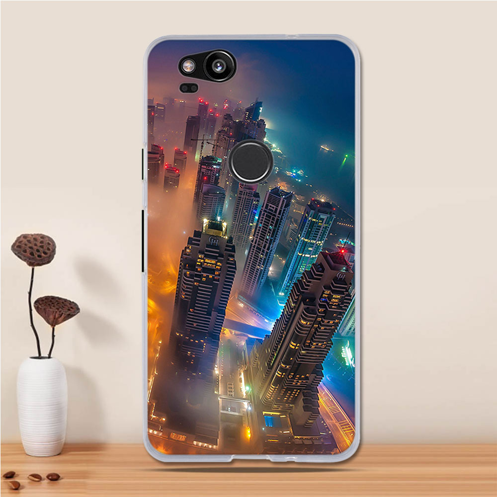 lowest price fc4cd 9dbbf TPU Case For Google Pixel 2 Case Silicone Cute Cat Slim Cover For Google  Pixel 2 Cover Fundas For Google Pixel 2 Phone Case