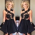 Fashion 2016 New Pretty Girl's Chiffon Sleeveless A-Line Short/Mini Dress Formal Gown robe de cocktail Dresses Custom Size