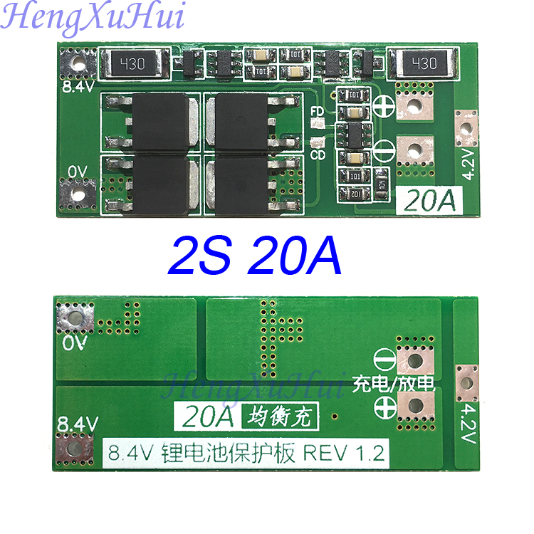 2S20A Li ion Battery PCB Protection Board  Equalized Charging Optional