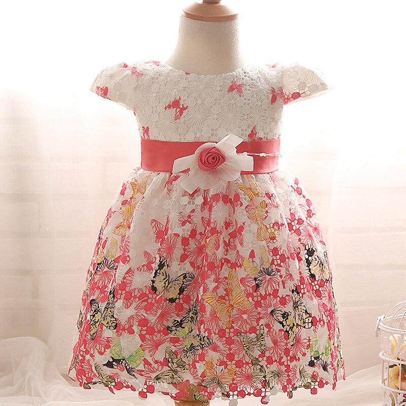 Bebé infantil del verano vestidos mariposa niña princesa vestidos ...