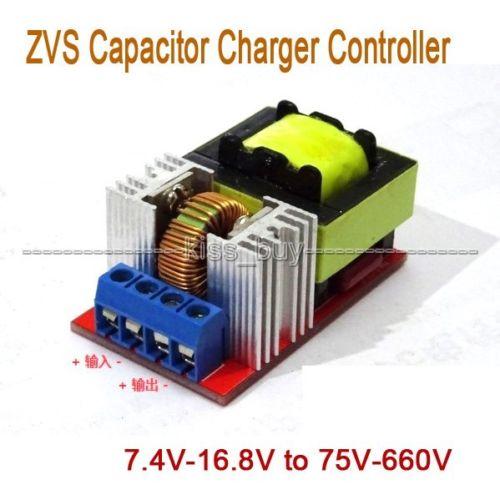 DC-DC 7.4V-16.8V To 75V-660V Battery Booster ZVS Capacitor Charger Controller