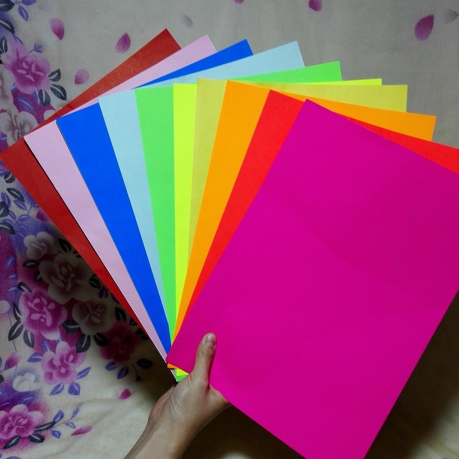 Scrapbook paper aliexpress - A4 Multicolour Self Adhesive Sticker Paper 10 Piece A Lot Embossed Device Scrapbook Paper Color Paper Bright Adhesive