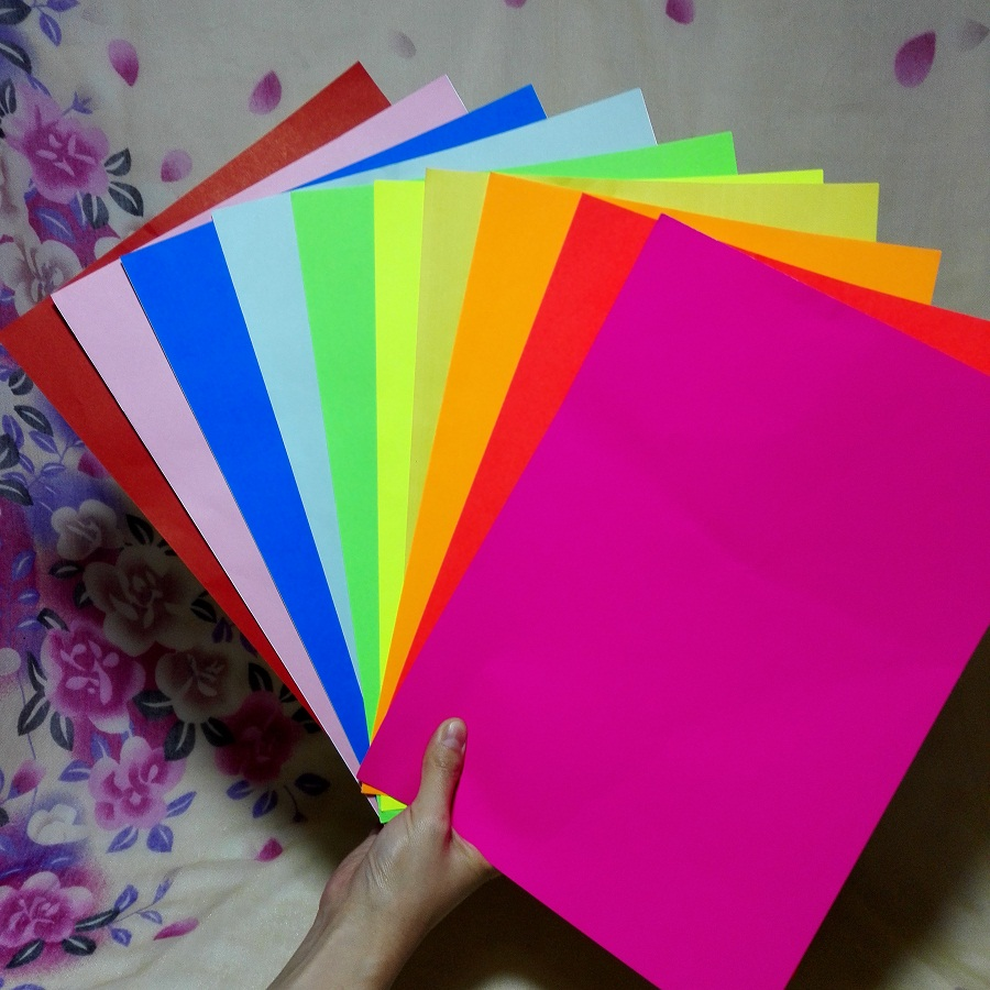 A4 Multicolour Self adhesive Sticker Paper; 10 Piece a Lot; Embossed ...