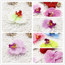 10pcs Silk Butterfly Orchid Artificial Flower Head For Wedding Car Home Decoration artificial orchid head Plants decoration for