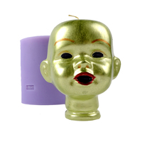 3D Head Portrait Shape Silicone Mold Soap Candle Making Tools Halloween Theme Mould
