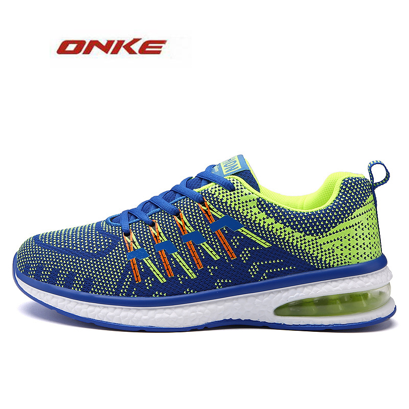 2017 ONKE Brand Women Men Air Sole  Run  Free Run Lover Sneakers  Breathable Summer Shoes Large Size Female Footwear kettler run air