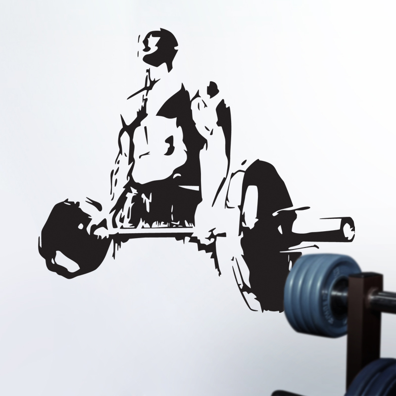 DCTAL Gym Sticker Fitness Decal Bodybuilding Posters Name Barbell Vinyl Wall Decals Parede Decor Mural Gym