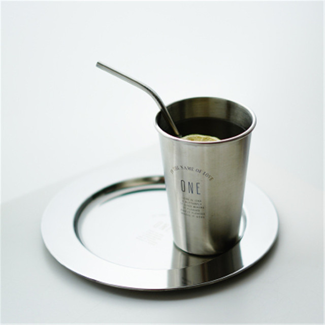 Silver Glass 304 Stainless Steel Mugs 5