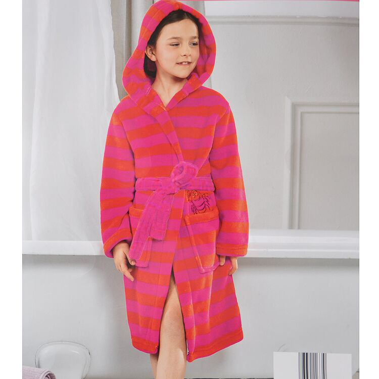 Children s bathrobe baby bathrobe pajamas nightgown coral fleece warm bathrobe house coat