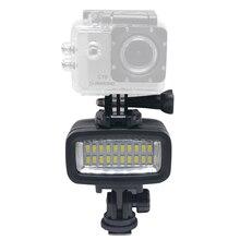 Mcoplus 20 unids Impermeabilizan la cámara de Vídeo LED Lámpara de Luz Bajo El Agua 40 m Buceo para HTC XIAOYI SJ5000 SJ6000 & Action DV Cámara Gopro cámara