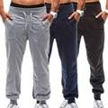 MK 2017 hombres del Verano del Resorte Pantalones de Nuevo Cordón de la Cintura Ocasional Floja Larga Cargos Joggers Pantalones Masculinos de La Moda