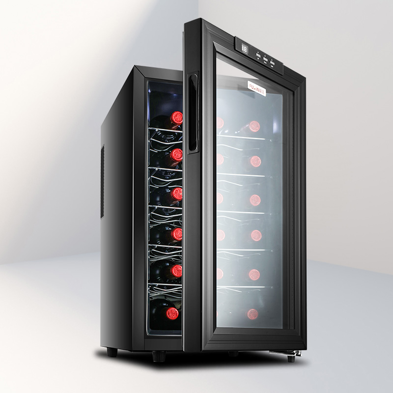 Professional Thermostatic Wine Cabinet 33L 6 Layers Mini Portable Electric Wine Refrigerator Freestanding Commercial Fridge