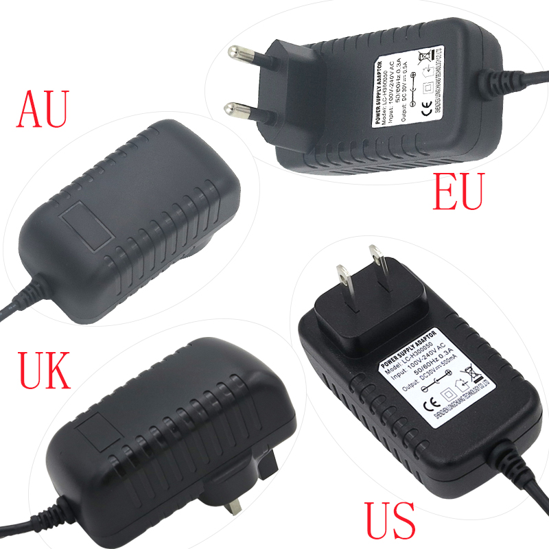 AC 100-240V to DC 30V 500mA Switching Power Supply Converter Adapter Universal Charger US/EU/UK/AU Plug 5.5*2.1mm for LED lamp 4 port 500ma usb power adapter charger 100 240v us plug