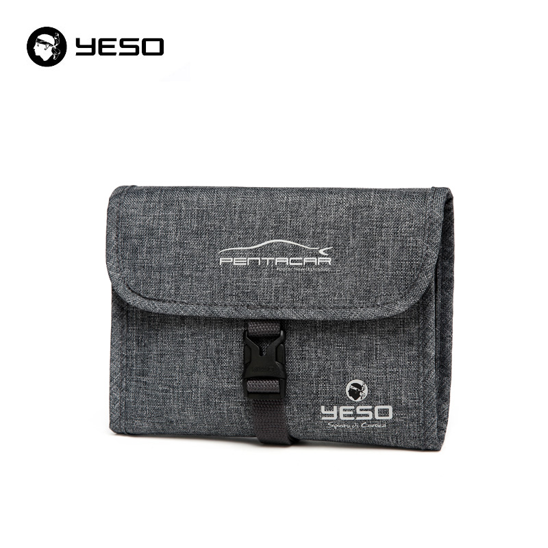 YESO Travel Accessories Portable Women Wash Bags Waterproof Multifunction 9 Inch Makeup Bags 2018 Polyester Casual Cosmetic Bags