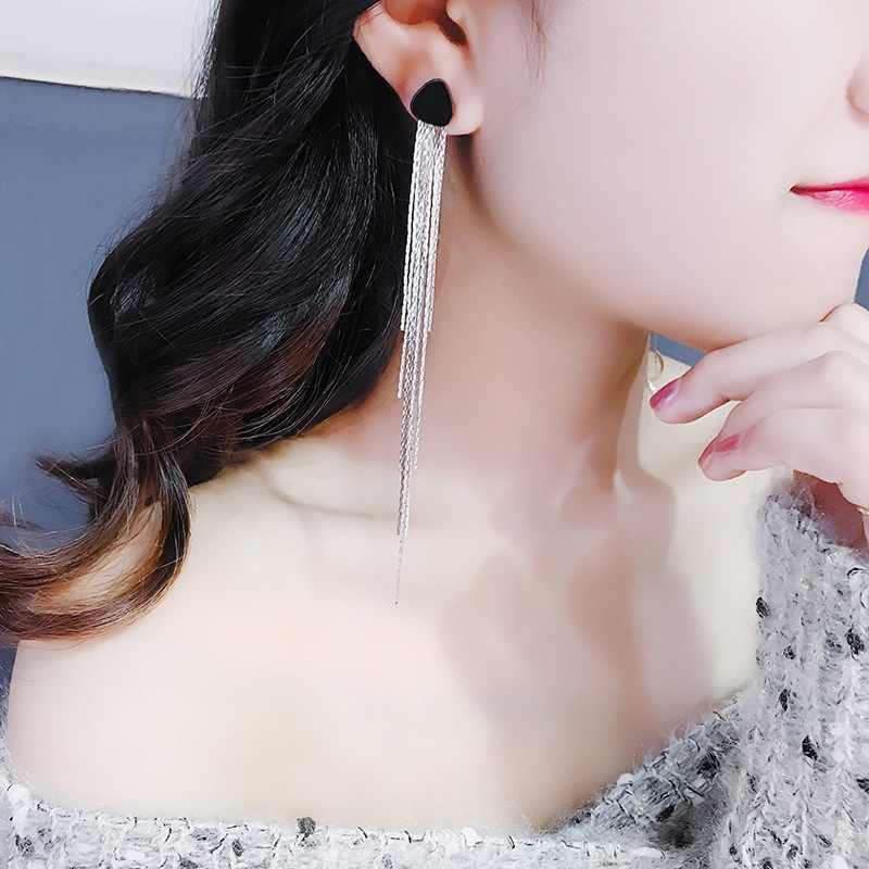 New Earrings Fashion Jewelry Personality Tassel Temperament Long Female Simple Joker Elegant Earrings For Women Wholesale