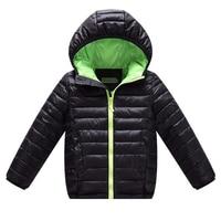 2016 kinder Jacken Für Jungen Mädchen Winter Weiße Ente Daunenjacke Kinder Mit Kapuze Parkas Kind Mantel schwarz blau rot