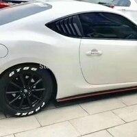 MONTFORD аксессуары для Toyota GT86 снаружи углеродного волокна сзади воздухозаборник вентиляционное отверстие крышки Стикеры украшение автомобил
