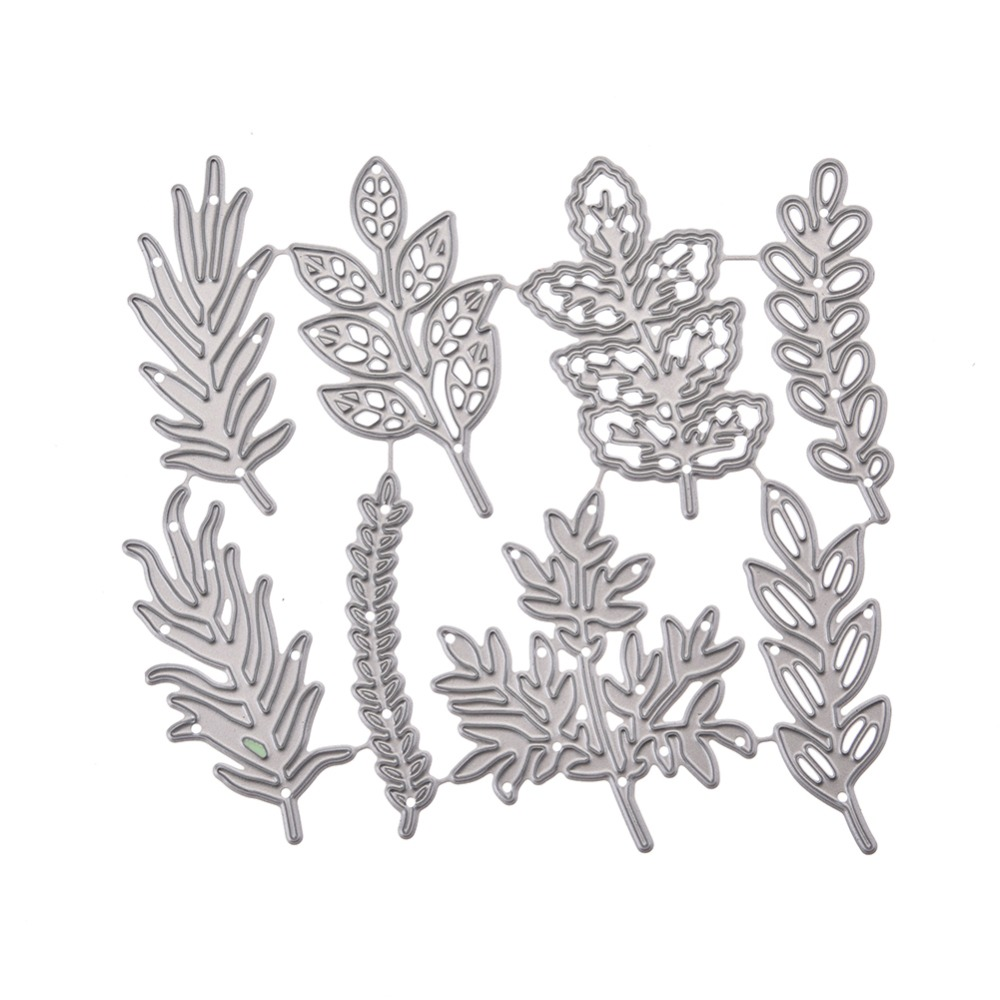 8 Pcs Flower Leaves Metal Cutting Dies Scrapbook Craft Dies Greeting Cards Making 3D Stamp DIY Photo Decoration Embossing New