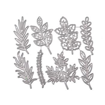 8 sztuk kwiat liście metalu wykrojniki rękodzieło scrapbook umiera powitanie robienie kartek 3D znaczek DIY dekoracja zdjęcia wytłaczanie nowe tanie i dobre opinie Chilartalent Flower cutting dies 11 6*9 6cm
