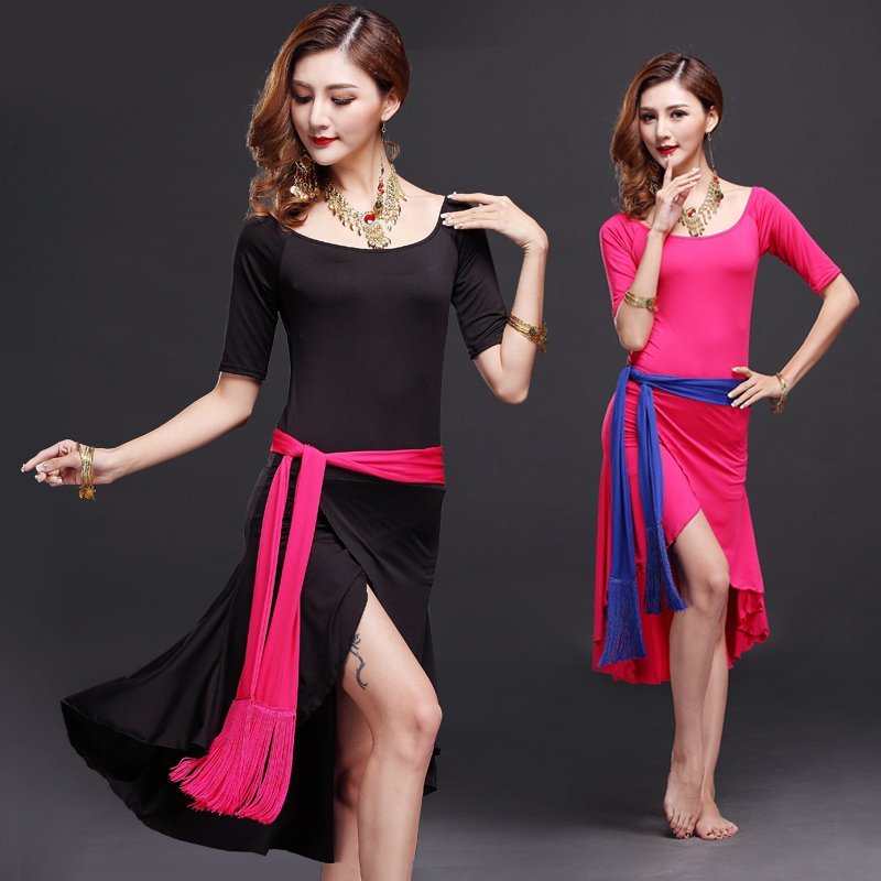 2017 Limited Bamboo Fiber Rushed Women Cotton Belly Dance Dress With Belt Safety Pants Bellydance Costume Professionals
