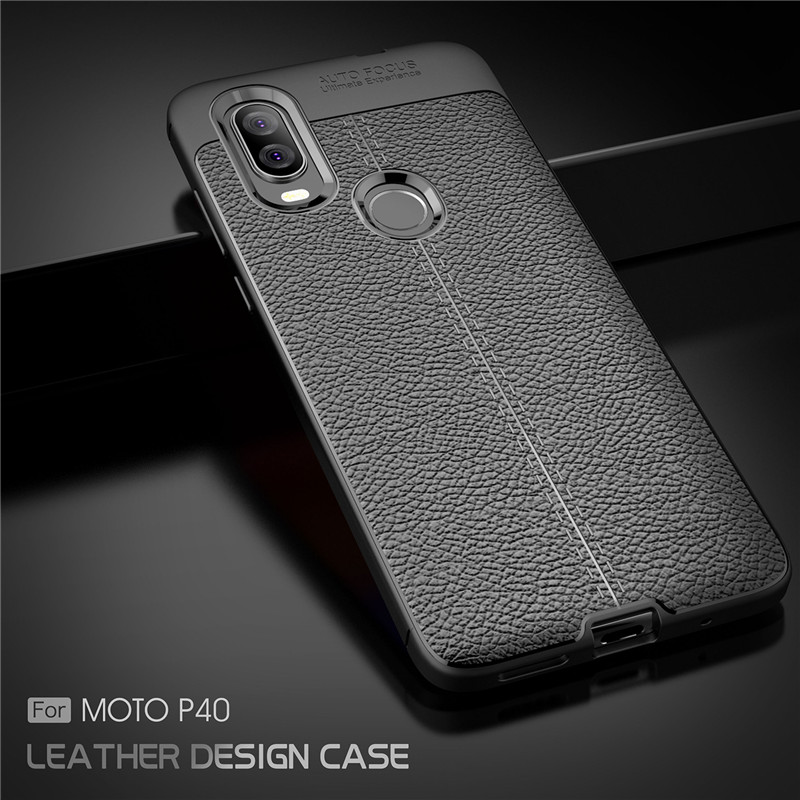 For Phone Case Moto P40 Luxury Rubber Soft Silicone for Back Cover Motorola Shell Fundas