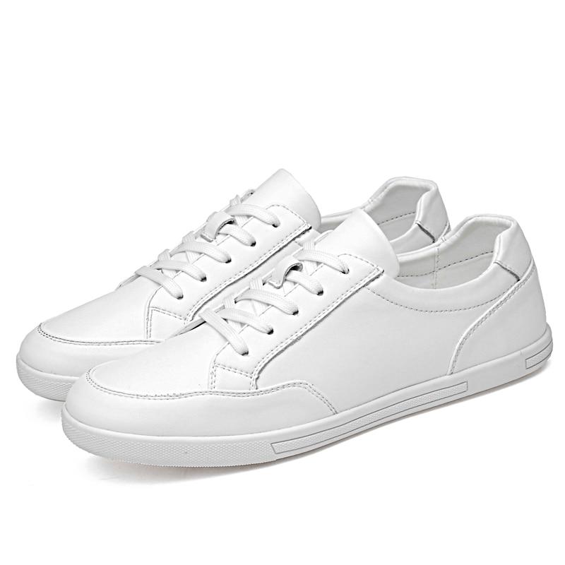 Masculina Black De Lace Moda Primavera C4 Homens Ar Modelos Pequenos Casuais Couro Ao Sapatos Casal Estilo white Brancos up Simples Livre Flats 0SqTA
