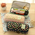 Kawaii Stationery Large Capacity Floral Pencil Case Pen Storage Box School Office Supplies Cute Cosmetic Bag Papelaria for Girls