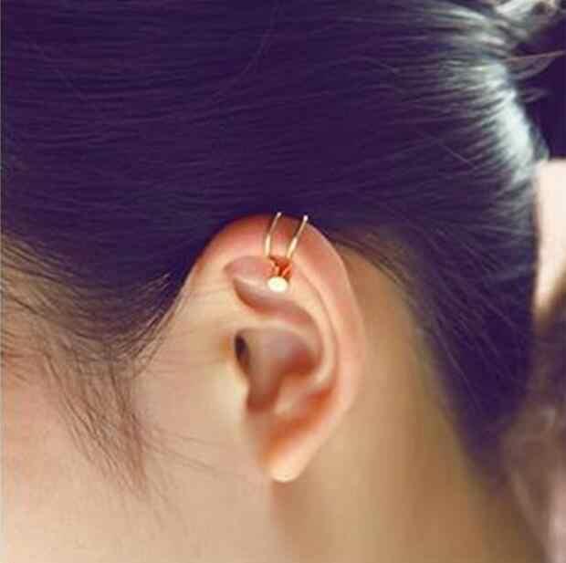 1 piezas linda chica de cristal único de cinco puntas de la estrella Flor Mariposa corazón perlas de imitación Cruz sin oreja agujero de la oreja pendientes de clip pendientes largos aretes pendientes