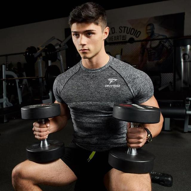 2019 GYM Shirt Sport T Shirt Men Rashgard Quick Dry Fit Running T-Shirt Men Fitness Tshirt Elastic Sportswear Basketball Tshirt 2